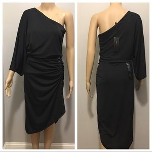 BCBG over one shoulder dress